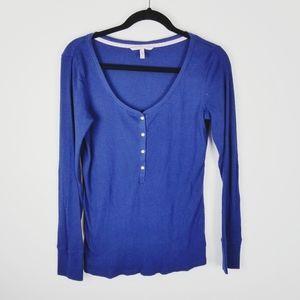Victoria Secret Henley ribbed long sleeve shirt L